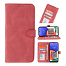 Wallet Cases Cover for Samsung Galaxy A22 5G Burgundy Red