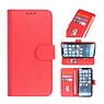 Bookstyle Wallet Cases Hoesje voor iPhone 13 Mini Rood