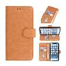 Bookstyle Wallet Cases Hoesje voor iPhone 13 Mini Bruin