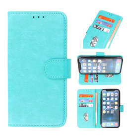 Bookstyle Wallet Cases Hoesje voor iPhone 13 Groen