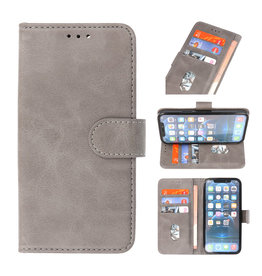 Bookstyle Wallet Cases Case for iPhone 13 Pro Gray