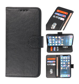 Bookstyle Wallet Cases Hoesje voor iPhone 13 Pro Max Zwart