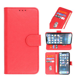 Bookstyle Wallet Cases Hoesje voor iPhone 13 Pro Max Rood