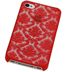 PC Palace 3D Back Cover for iPhone 4 Red