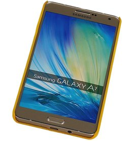 PC Palace 3D Back Cover for Galaxy A7 Yellow