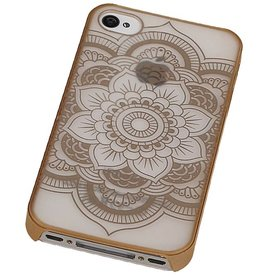 PC Roman Tuo 3D Back Cover for iPhone 4 Gold
