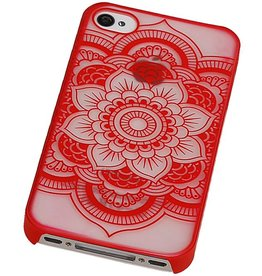 PC Roman Tuo 3D Back Cover for iPhone 4 Red