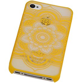 PC Roman Tuo 3D Back Cover for iPhone 4 Yellow