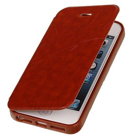 Easy Book Type Case for iPhone 5 / 5S Brown