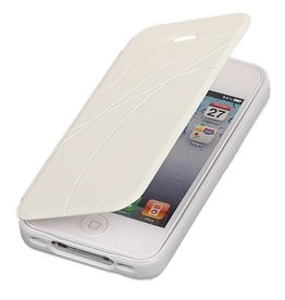 Easy Book Type Case for iPhone 4 White