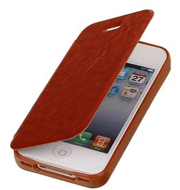 Easy Book Type Case for iPhone 4 Brown