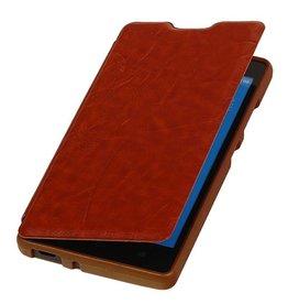 Easy Booktype case for Huawei Honor 3C Brown