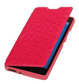 Easy Booktype case for Huawei Honor 3C Pink