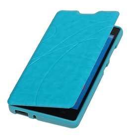Easy Book type case for Huawei Honor 3C Turquoise