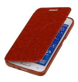 Easy Booktype hoesje voor Galaxy Core II G355H Bruin