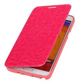 Easy Booktype hoesje voor Galaxy Note 3 Neo Roze