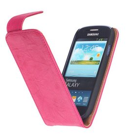 Washed Leather Classic Case for Galaxy S4 i9500 Pink