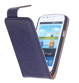 Washed Leather Classic Case for Galaxy S4 i9500 D.Blue