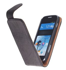Washed Leather Classic Case for Galaxy S Duos S7562 Black