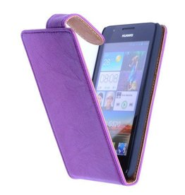 Washed Leather Classic Case for Huawei Ascend G700 Purple