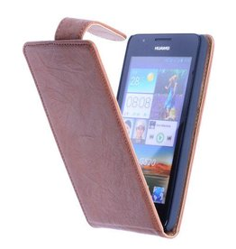 Washed Leather Classic Sleeve for Huawei Ascend G700 Brown