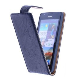 Washed Leather Classic Case for Huawei Ascend G510 Black