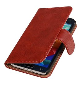 Galaxy S5 Bark Bookstyle Hoes voor Galaxy S5 G900F Rood