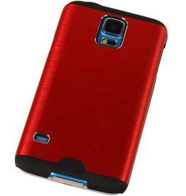 Galaxy S4 i9500 Lichte Aluminium Hardcase voor Galaxy S4 i9500 Rood