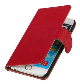 Washed Leather Bookstyle Case for iPhone 6 Plus Pink