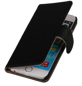 Washed Leather Bookstyle Case for iPhone 6 Plus Black