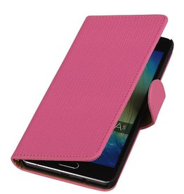 Fashion Bookstyle Case for Galaxy A5 Pink
