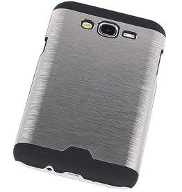 Light Aluminum Hardcase for Galaxy J7 Silver