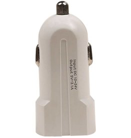 USAMS2 USB Mini Car Charger 2port 2.1 A White