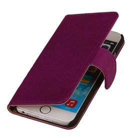 Washed Leather Bookstyle Cover for Touch 5 Purple
