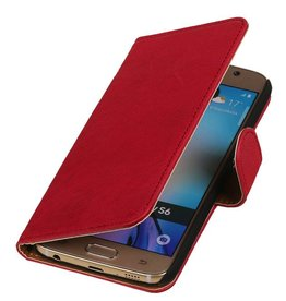 Washed Leer Bookstyle Hoes voor Galaxy S4 Active i9295 Roze