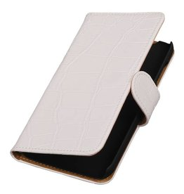 Croco Bookstyle Case for Huawei Ascend Y625 White