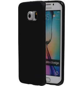 TPU Case for Galaxy S6 Edge G925F with packaging Black