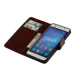 TPU Bookstyle Cover for Honor 4A / Y6 Brown