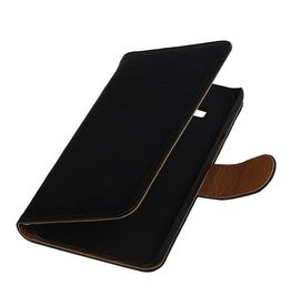 Washed Leather Bookstyle Case for Huawei P8 Lite Black