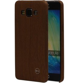 QY Wood Design Thin TPU Cover for Galaxy A5 Brown