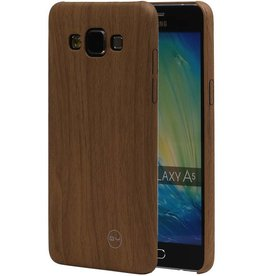 QY Wood Design Thin TPU Cover for Galaxy A5 Light Brown