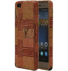 Cork Design TPU Cover for Huawei P8