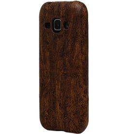 Houtlook Design TPU Hoes voor Galaxy S6 G920F DonkerBruin