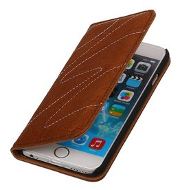 Washed Leather Map Case for iPhone 6 Brown