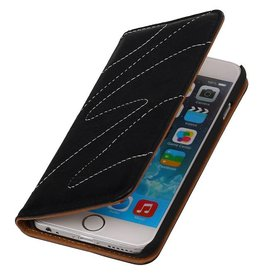 Washed Leather Map Case for iPhone 6 Black