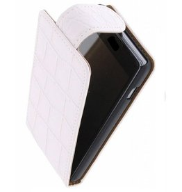 Croco Classic Flip Sleeve for Galaxy S4 mini i9190 White