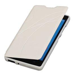 Easy Booktype hoesje voor Huawei Ascend G610 Wit