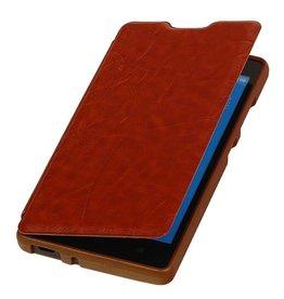 Easy Booktype hoesje voor Huawei Ascend G610 Bruin