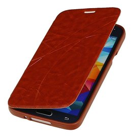 Easy Book Type Case for Galaxy S5 mini G800F Brown