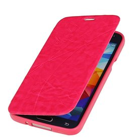 Easy Book Type Case for Galaxy S5 mini G800F Pink